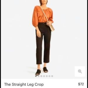 Everlane straight leg crop 00 NWOT